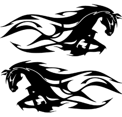 Horse Tribal - Ver.1 | Set of 2