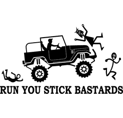 RUN YOU STICK BASTARDS FJ40 V2