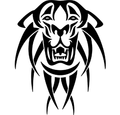 Tiger Head : Tribal