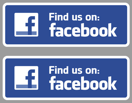 Find us on Facebook (Set of 2) Sticker / Decal