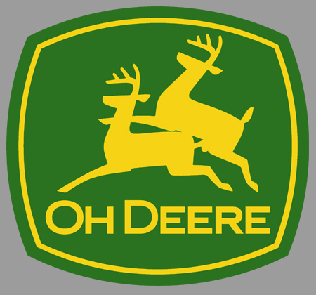 Oh Deere - John Deere Parody Sticker / Decal