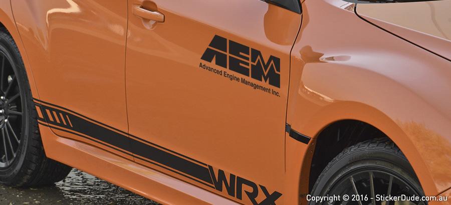 AEM Sticker | Worldwide Post | Range Of Sticker Colours