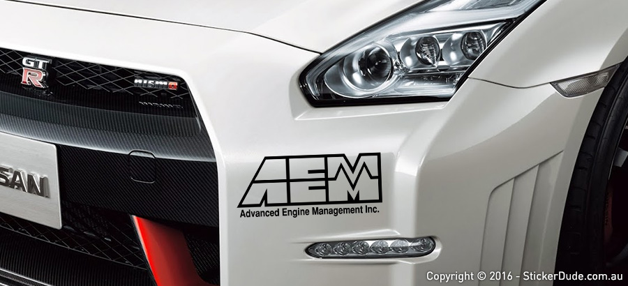 AEM Sticker | Worldwide Post | Range Of Sticker Colours