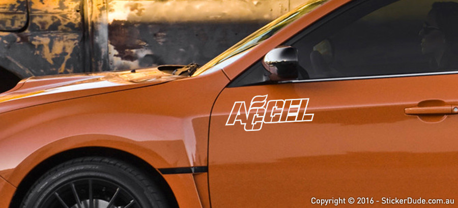 Accel Sticker | Worldwide Post | Range Of Sticker Colours