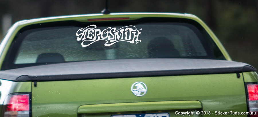 Aerosmith Sticker | Worldwide Post | Range Of Sticker Colours
