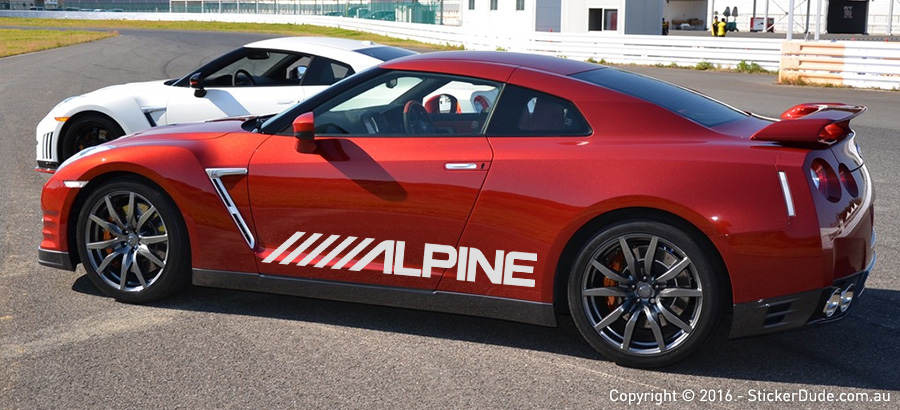 Alpine Sticker | Worldwide Post | Range Of Sticker Colours