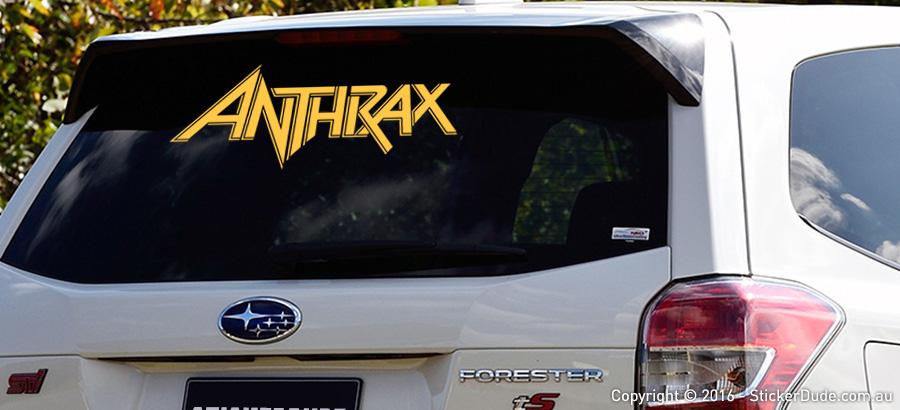 Anthrax Sticker | Worldwide Post | Range Of Sticker Colours