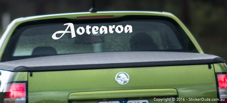 NZ Aotearoa V3 Sticker | Worldwide Post | Range Of Sticker Colours