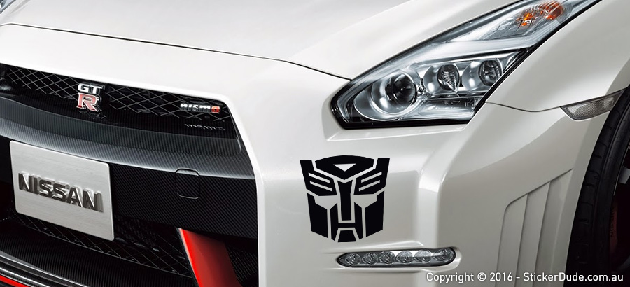 Transformers Autobot Sticker | Worldwide Post | Range Of Colours