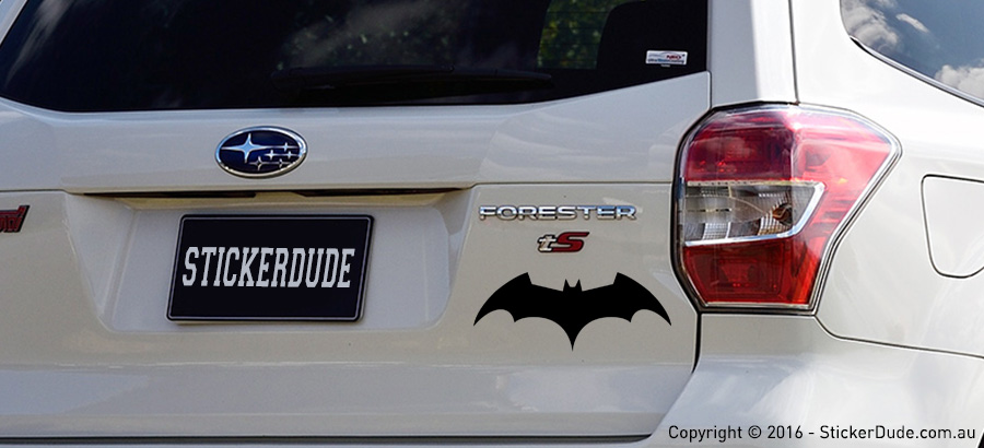 Batman V1 Sticker | Worldwide Post | Range Of Sticker Colours