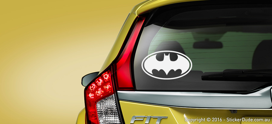Batman V3 Sticker | Worldwide Post | Range Of Sticker Colours