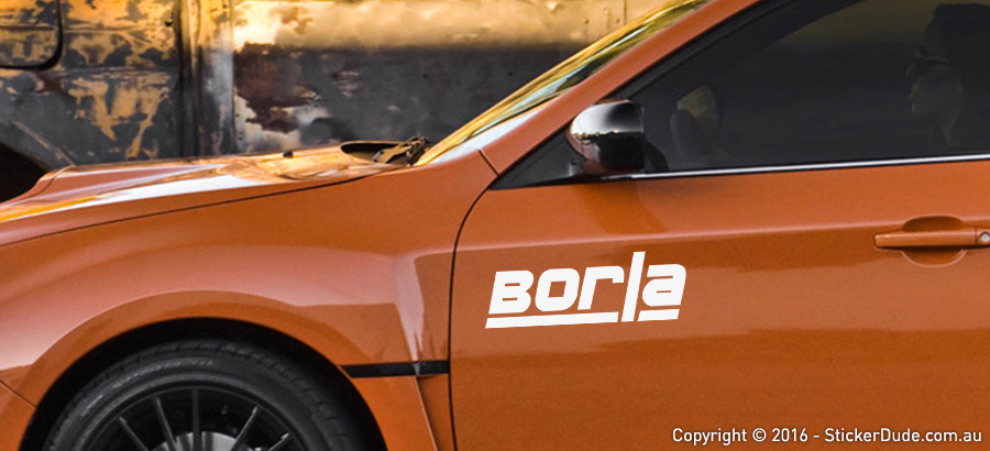 Borla Sticker | Worldwide Post | Range Of Sticker Colours