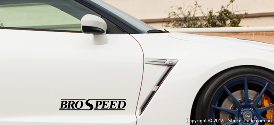 BroSpeed Sticker | Worldwide Post | Range Of Sticker Colours