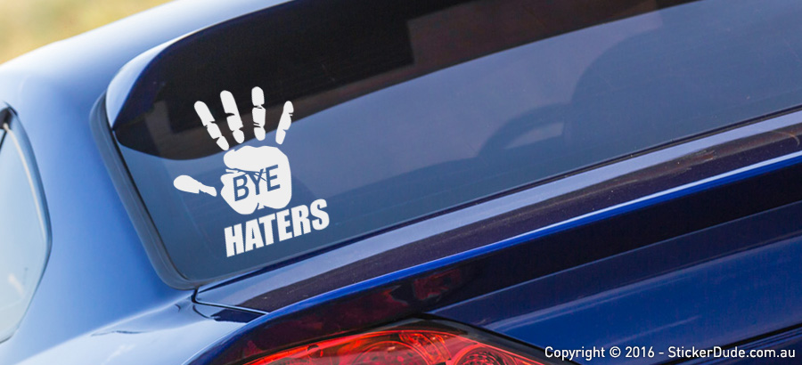 Bye Haters Sticker | Worldwide Post | Range Of Sticker Colours