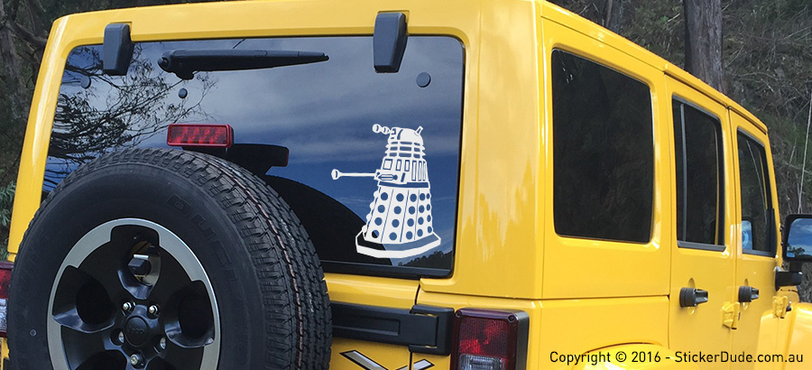 Dalek V2 Sticker | Worldwide Post | Range Of Sticker Colours
