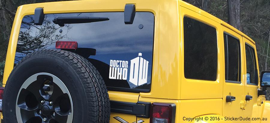 Doctor Who Sticker | Worldwide Post | Range Of Sticker Colours