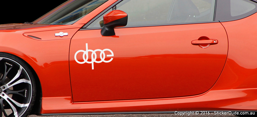 Dope Sticker | Worldwide Post | Range Of Sticker Colours