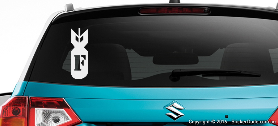 F Bomb Sticker V1 | Worldwide Post | Range Of Colours