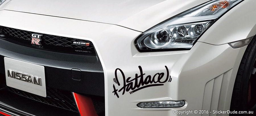 Fatlace Ver.1 Sticker | Worldwide Post | Range Of Sticker Colours