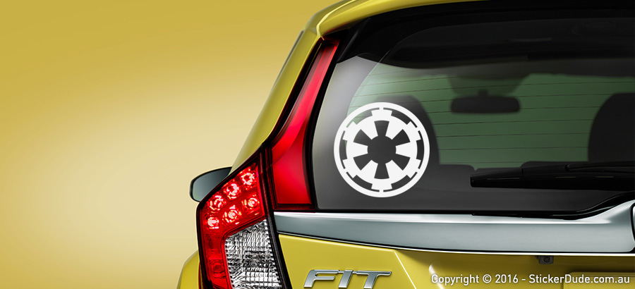 Galactic Empire - Star Wars Sticker | Worldwide Post | Range Of Sticker Colours
