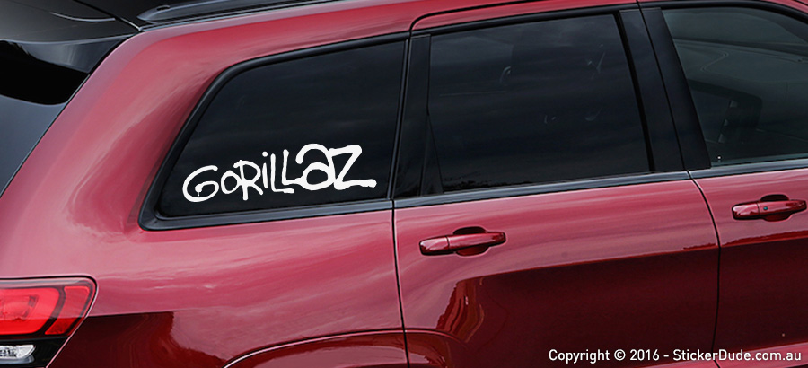 Gorillaz Sticker | Worldwide Post | Range Of Sticker Colours