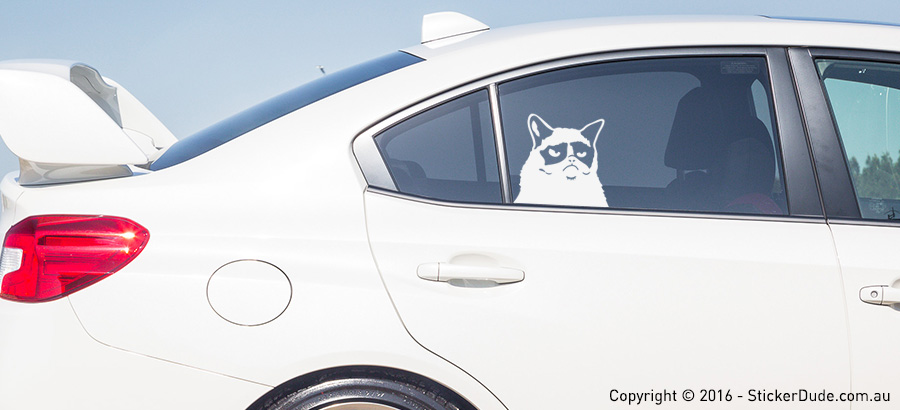 Grumpy Cat Sticker | Worldwide Post | Range Of Sticker Colours