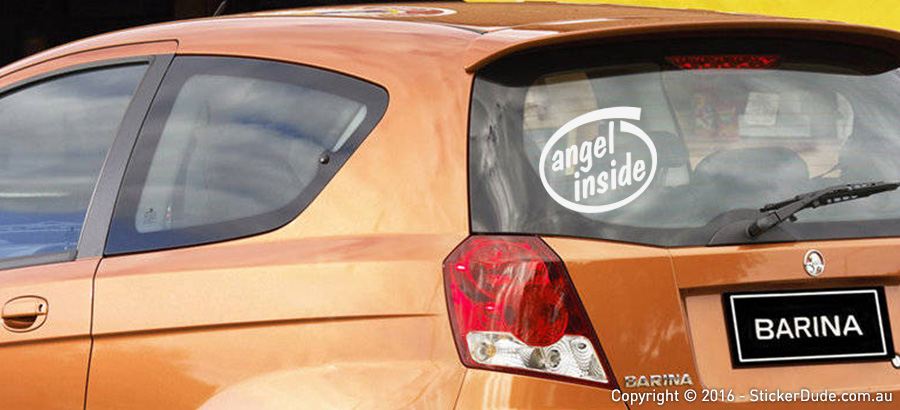 Angel Inside Sticker | Worldwide Post | Range Of Sticker Colours