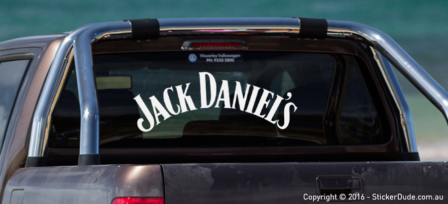 Jack Daniel's Sticker | Worldwide Post | Range Of Sticker Colours