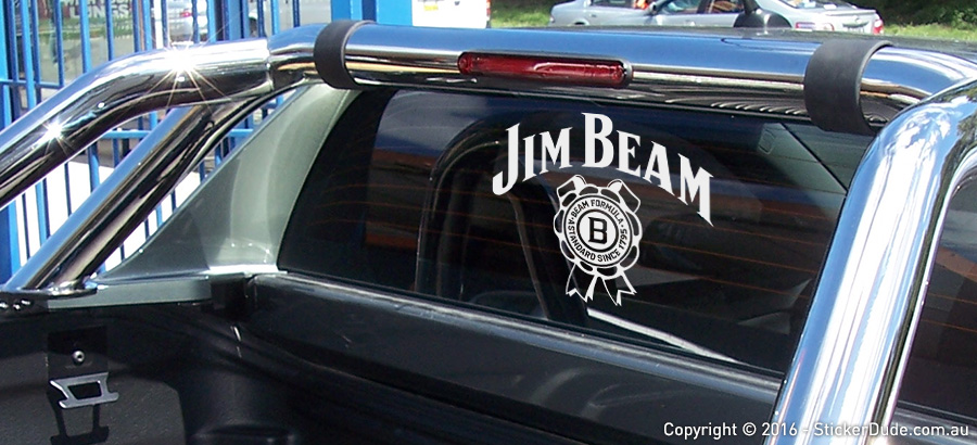 Jim Beam Sticker | Worldwide Post | Range Of Sticker Colours