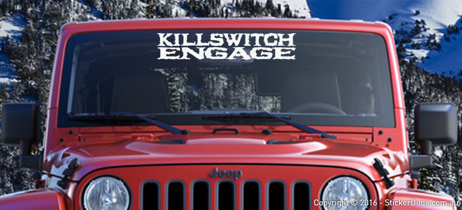 Killswitch Engage Sticker | Worldwide Post | Range Of Sticker Colours