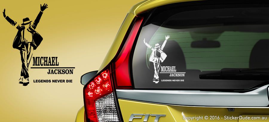 Michael Jackson R.I.P Ver.4 Sticker | Worldwide Post | Range Of Sticker Colours