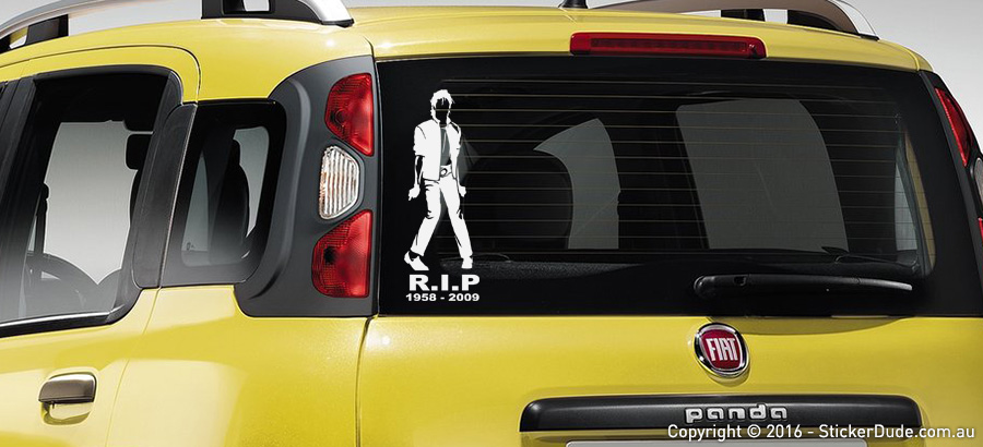 Michael Jackson R.I.P Ver.3 Sticker | Worldwide Post | Range Of Sticker Colours