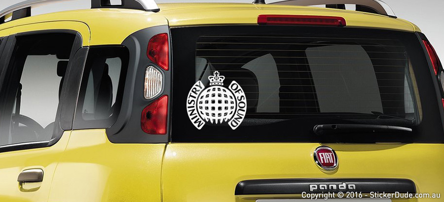 Ministry Of Sound Sticker | Worldwide Post | Range Of Sticker Colours