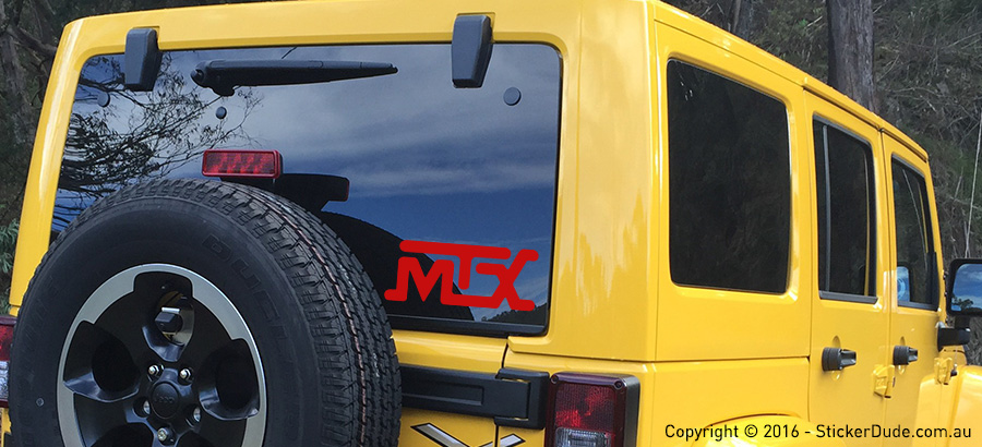 MTX Sticker | Worldwide Post | Range Of Sticker Colours