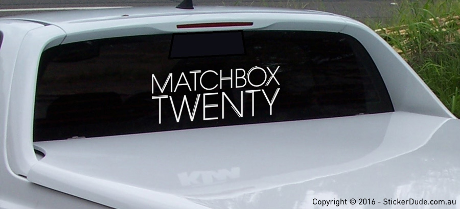 Matchbox Twenty Sticker | Worldwide Post | Range Of Colours