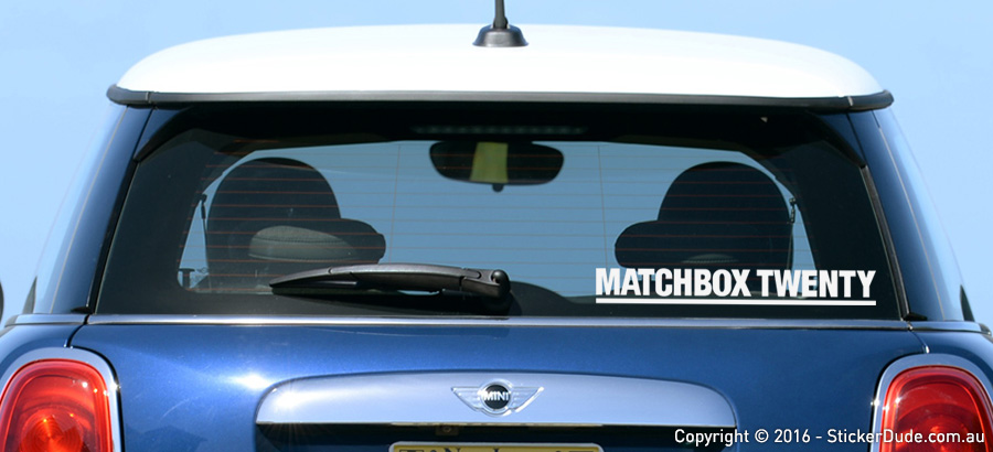 Matchbox Twenty V2 Sticker | Worldwide Post | Range Of Colours