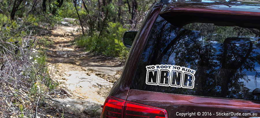 NRNR - No Root No Ride Sticker | Worldwide Post | Range Of Sticker Colours