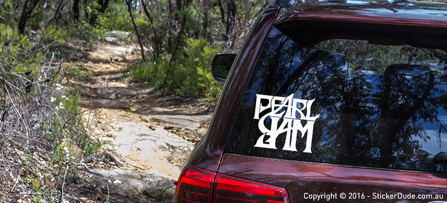 Pearl Jam Sticker | Worldwide Post | Range Of Sticker Colours