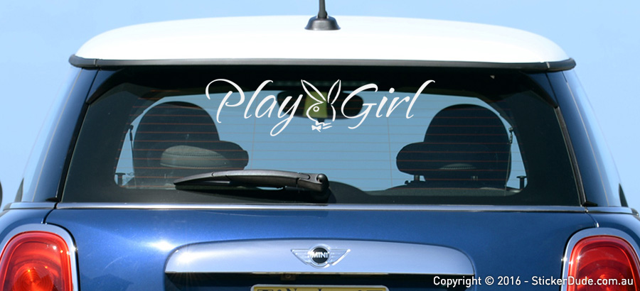 Playboy - Playgirl Sticker | Worldwide Post | Range Of Sticker Colours
