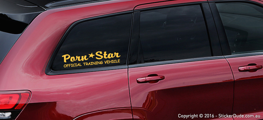 Porn Star - Official Training Vehicle Sticker | Worldwide Post | Range Of Stick