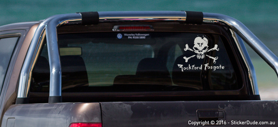 Rockford Fosgate - Skull Sticker | Worldwide Post | Range Of Sticker Colours