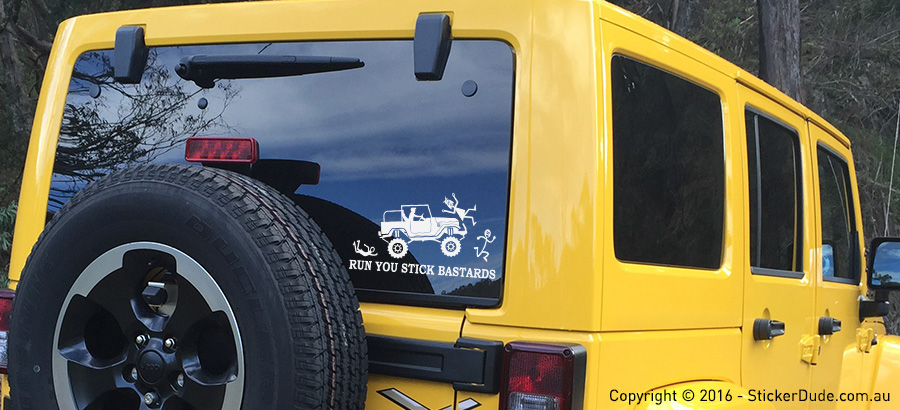 Run You Stick Bastards Sticker - FJ40 V1 | Worldwide Post | Range Of Sticker Col