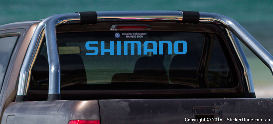 Shimano Sticker | Worldwide Post | Range Of Sticker Colours