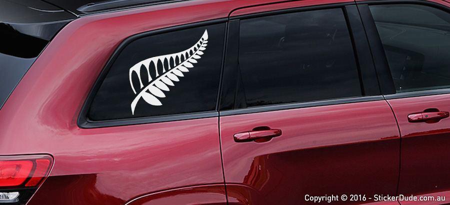 Silver Fern Sticker | Worldwide Post | Range Of Sticker Colours