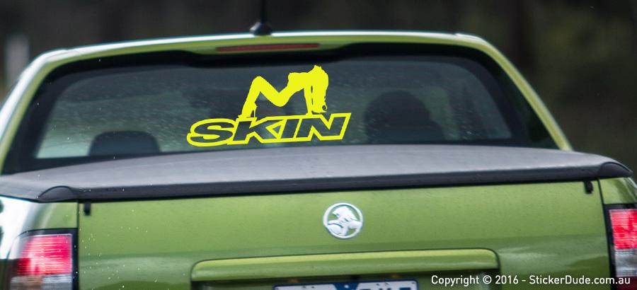 Skin Girl Sticker | Worldwide Post | Range Of Sticker Colours