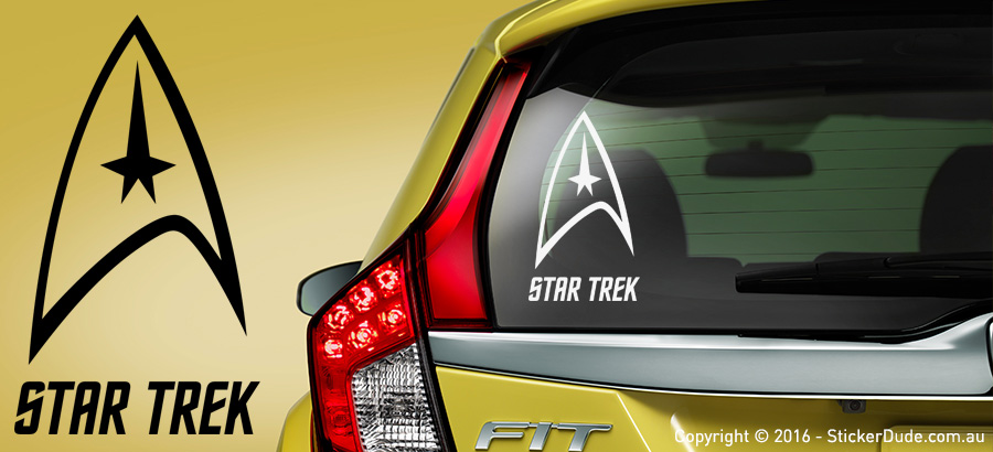 Star Trek Sticker | Worldwide Post | Range Of Sticker Colours