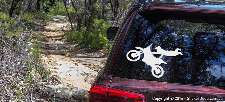 Motocross Stunt Sticker V4 | Worldwide Post | Range Of Sticker Colours