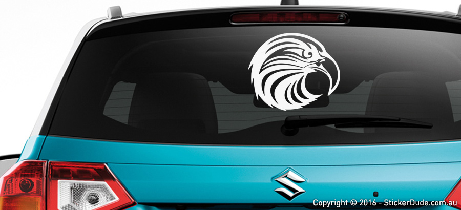 Eagle Head : Tribal Sticker | Worldwide Post | Range Of Sticker Colours