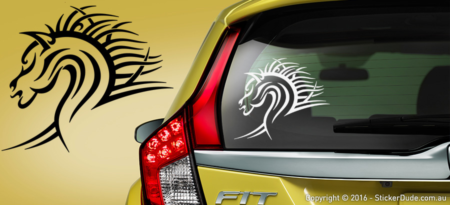 Horse Head : Tribal Sticker | Worldwide Post | Range Of Sticker Colours
