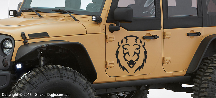 Lion Head : Tribal Sticker | Worldwide Post | Range Of Sticker Colours